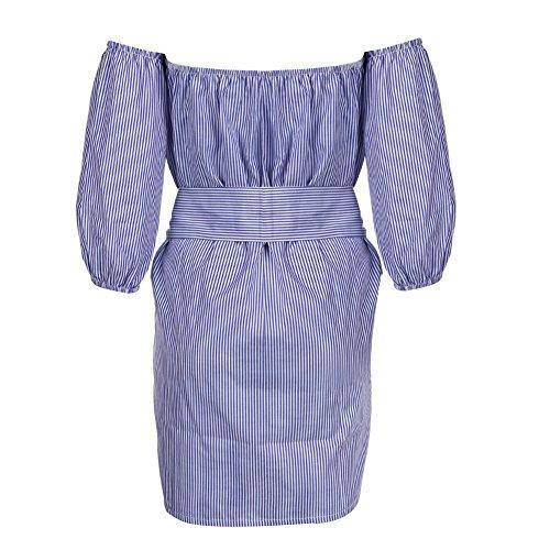 La Cabina Femme Sexy Robe Epaule Nue +Asymétrique Irrégulière Bustier Suspendue sans Manche Robe Noble pour Soirée Cérémonie Mariage et Soirée Cocktail