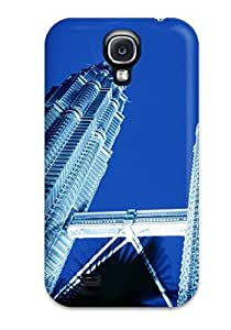 Protective Tpu Case With Fashion Design For Galaxy S4 (petronas Towers Skyscrapers In Kuala Lumpur)