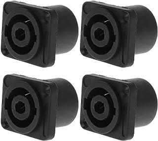 Prise de Panneau Jack, Haut-Parleur Audio 4 pôles, Verrouillage carré, Montage carré pour Neutrik Speakon NL4MP NL4MPR NL4FC NL4FX NLT4X série NL4 NL2FC NL2 (4PCS)