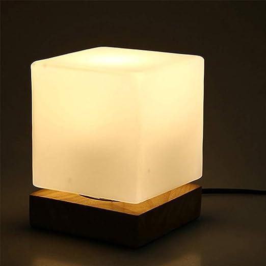 Table Lampe jour Moderne Base en Cube en Carré de Abat Verre eWIHEbD29Y