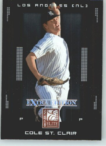 2008 Donruss Elite Extra Edition Baseball Card - Cole St. Clair Los Angeles Dodgers - MLB Baseball Trading - St Clair Stores