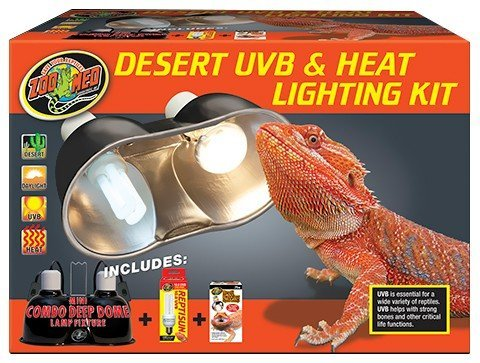 Zoo Med Desert Uvb & Heat Lighting Kit (Best Light For Bearded Dragon)