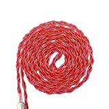 KINDEN Shure Earphone Replacement Cable 5N OCC Crystal Copper Plated Silver Headphone DIY Cord for Shure SE215 SE425 SE535 SE846 UE900 Headphone Audio Cables (47 inch, Red )