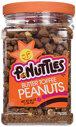 - P-Nuttles Butter Toffee Covered Peanuts, 44oz Jar (Pack of 1) ...