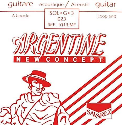 Savarez Cuerdas Para Guitarra Acustica Argentine Sol3-1013Mf, Con Lazo
