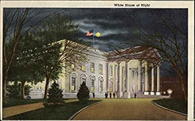 White House at Night Washington, District Of Columbia Original Vintage Postcard