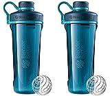 radian heaters - 2 Pack Blender Bottle Radian 32 oz. Tritan Shaker Bottle with Loop Top ( Deep Sea Green)
