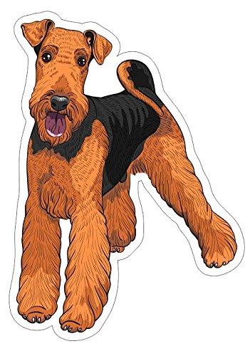 - JS Artworks Airedale Terrier Sty2 Vinyl Bumper Sticker Decal Dog Pet Family Love