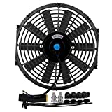 "Etbotu 12"" 12V Universal Car High Power Push Racing Electric Radiator Engine Cooling Fan"