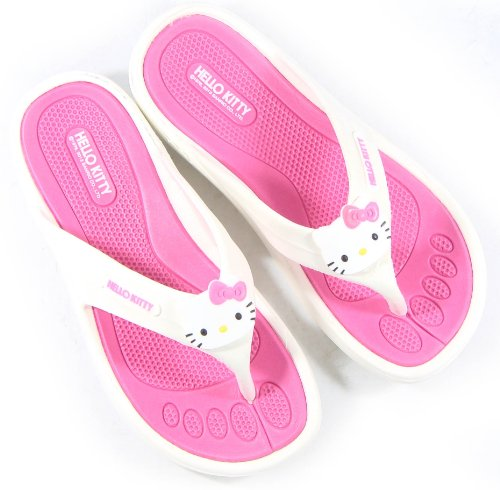 676eb1b8967d Amazon.com   Hello Kitty Lovely Women Slippers Shoes for Girls Flip Flops  Pink US Size 5 Summer Beach Pool Spa   Beauty