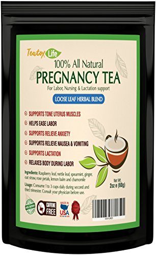 Fertility tea, Red Raspberry Leaf Tea blend to get pregnant fast, for ovulation support as pregnancy aid , regulated menstrual cycle and uterus support | Made in USA