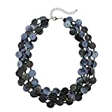 Bocar Multi Strand Statement Shell Colorful Collar Necklace for Women (NK-10480-moran)
