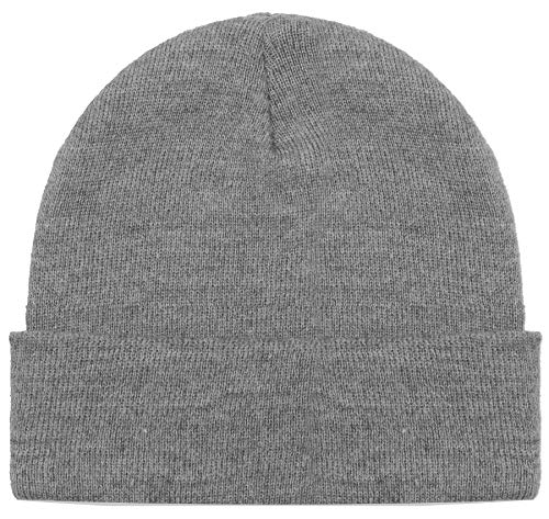 (Blueberry Uniforms Gray Merino Wool Beanie Hat -Soft Winter and Activewear Watch Cap)