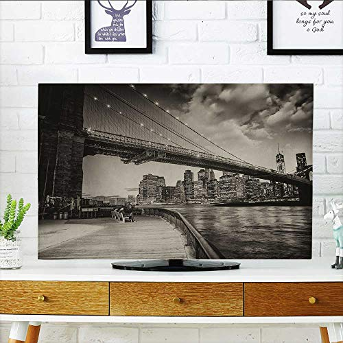 Philiphome Protect Your TV Manhattan Skyline with East River Reflections at Night Protect Your TV W20 x H40 INCH/TV 40