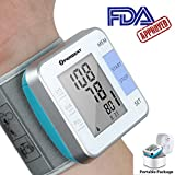 digital blood pressures - Portable Blood Pressure Monitor Arm Wrist Cuff Perbeat Auto Digital Heart Rate Pulse Monitor Kits for Travel and Home Use with FDA Approved, 2 Users Mode, Memory Recall, Fits for Standard, Large Arms.