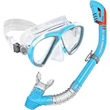 US Divers Premium Beli Lady Silicone Combo Snorkel Snorkeling Mask Womens by U.S. Divers