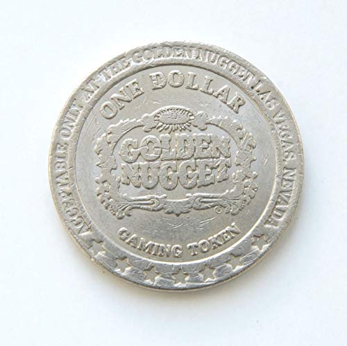 1985 Golden Nugget Hotel & Casino, Las Vegas, Nevada One Dollar Gaming Token (Obsolete Design) $1 Used