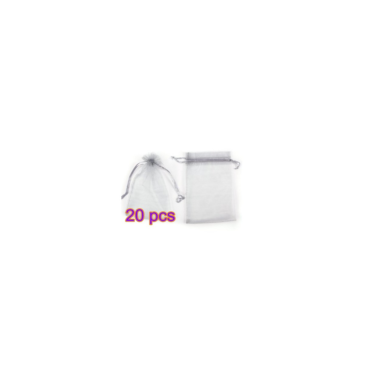 Danapp Color organza gift wrap yarn bag *100pcs (WHITE)