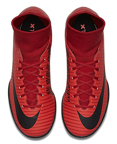 Nike Court Borough Mid Se, Zapatillas de Fútbol Para Hombre, Multicolor (University Red/Black-Bright CR), 42 EU