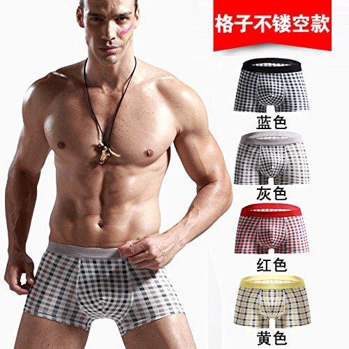 Calzoncillos ropa interior de fibra de bambú Shorts Shorts Sexy U cómodo 4pcs ,j,XXL Greatlpk k