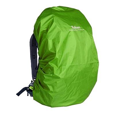 Outdoor Riding dos à dos étanche Rain Cover Cover-55 L Grass Green