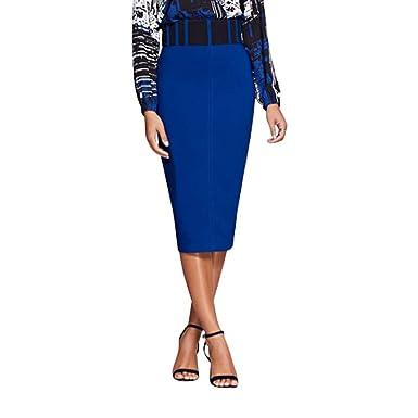 5dcf4c0355 Amazon.com  New York   Co. Corset Pencil Skirt - Gabrielle Union 12 Ming  Blue  Clothing