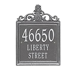 "Custom Lanai Pineapple Estate LAWN Address Plaque 19""H (3 Lines)"