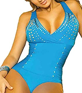 ZARINA Body Colombiano Estampado Color Azul - Body con Faja 029