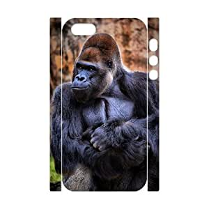 Personalized New Print Case for Iphone 5,5S 3D, Black Gorilla Phone Case - HL-704636