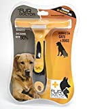 Cat & Dog Deshedding Tool. THE FUR DOCTOR Provides The Maximum Fur Removal Results For Your Cat & Dog In The Shortest Time Possible GUARANTEED! Easy Eject Button Dislodges Cat & Dog Fur With Ease! Professionally Designed By Pet Care Experts To Give You Years Of Care Free Use!
