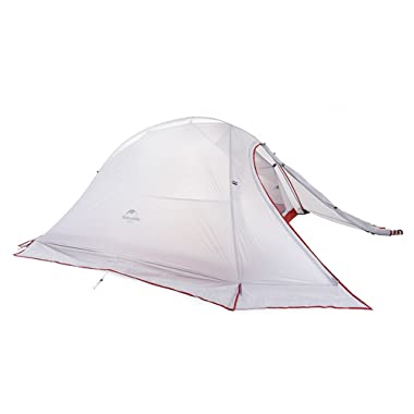 Naturehike Cloud-Up 2 Person Lightweight Tents 4 Season Backpacking Camping Tent 20D Silicon Double Layer Waterproof Tent for Camping Hiking Traveling