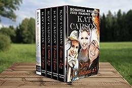Mail Order Bride: Bonanza Brides Find Prairie Love Box Set #3: Historical Clean Western River Ranch Romance by [Carson, Kat, Wyatt, Katie]
