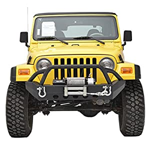 E-Autogrilles TJ YJ Off Road Jeep Wrangler Front Bumper with Winch Plate TJ YJ
