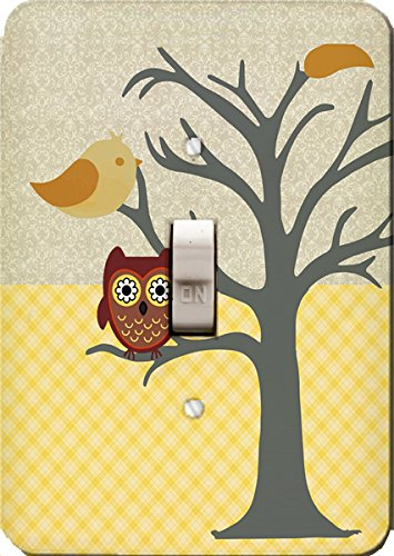 Nighty Night Owl Wall Plate Cover (single toggle) by Jessies Designs