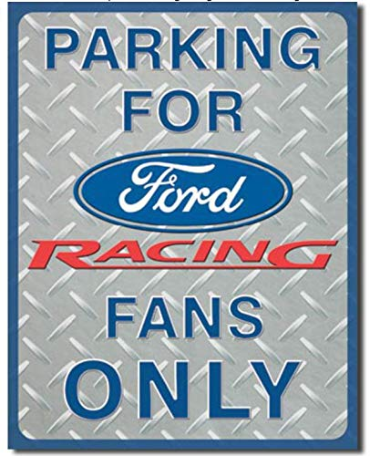 Parking Sign Nascar (ShopForAllYou Vintage Decor Signs Ford Racing Parking only Metal tin Sign nascar car Home Garage Wall Decor New)