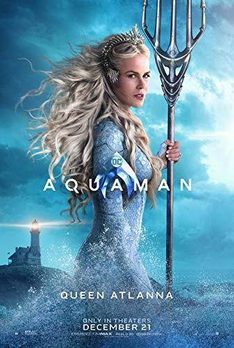 Aquaman Queen Atlanta Nicole Kidman Edible Cake Topper Image ABPID01586 - 1/4 sheet