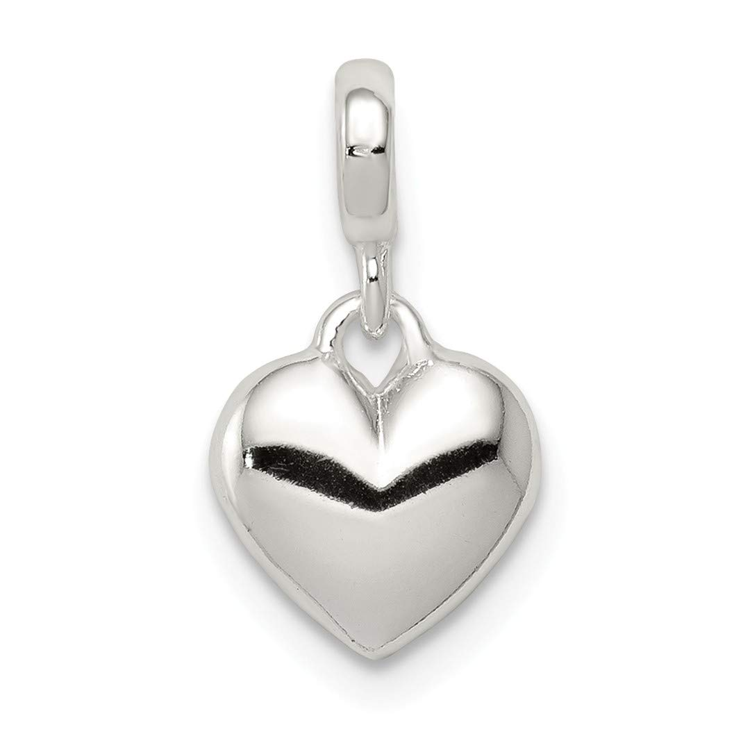 ICE CARATS 925 Sterling Silver Heart Enhancer Necklace Pendant Charm Love Fine Jewelry Ideal Gifts For Women Gift Set From Heart
