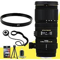 Sigma 70-200mm f/2.8 APO EX DG HSM OS FLD Telephoto Zoom Lens for Canon Digital DSLR Cameras + 77mm UV Filter + Lens Cap Keeper + Deluxe Starter Kit DavisMax Bundle