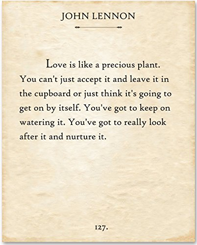 (John Lennon - Love is Like. - 11x14 Unframed Typography Book Page Print - Great Gift for Music Lovers)