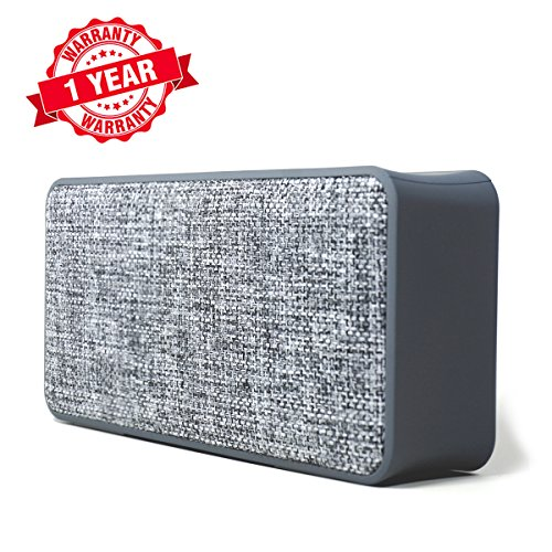 - Woozik Home Portable Bluetooth Speaker  - with Fabric Surface, Built-in Microphone, AUX, Great for Outdoors and Indoors