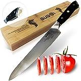 Damascus Chef Knife/Kitchen Knife - 9,5 inch Professional Japanese Knife - Ultra Sharp Gyuto Knife - Vg10-67 Layers Stainless Steel Chefs Knife w/Ergonomic Handle - Sushi Knife w/Stylish Gift Box