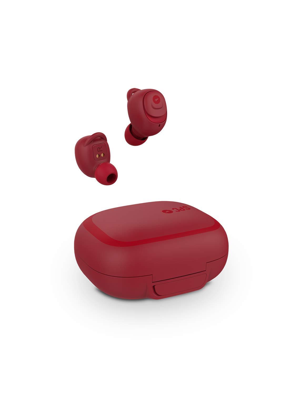 SPC Ebon - Auricular Bluetooth (manos libres, IPX5, asistente de voz) color rojo: Amazon.es: Electrónica