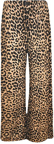 OgLuxe Plus Size Women's Print Palazzo Wide Leg Flared Ladies Trousers Pattern Pants 4-26