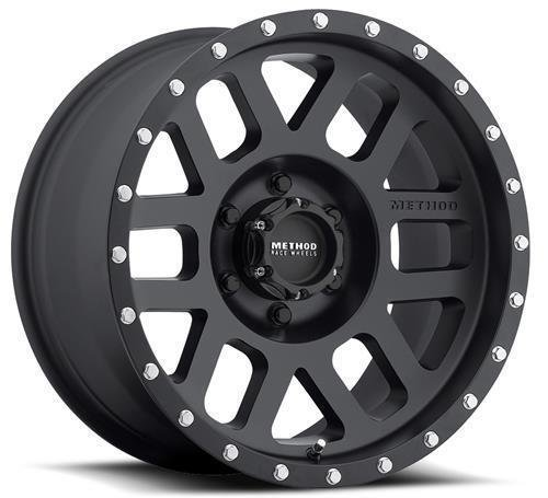 Method Race Wheels Mesh Matte Black Wheel with Stainless Steel Accent Bolts (17x8.5