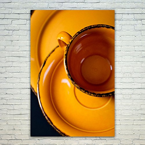 Caramel Plate Tea (Westlake Art - Poster Print Wall Art - Coffee Cup - Modern Picture Photography Home Decor Office Birthday Gift - Unframed - 12x18in (a115z))