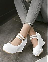 Women's Shoes Heel Wedges / Heels / Platform Heels Outdoor / Dress / Casual Black / Purple / White / Almond