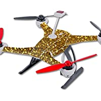 Skin For Blade 350 QX3 Drone – Gold Dazzle   MightySkins Protective, Durable, and Unique Vinyl Decal wrap cover   Easy To Apply, Remove, and Change Styles   Made in the USA