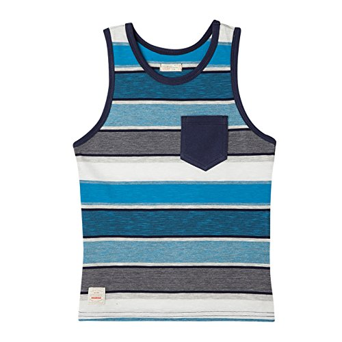 OFFCORSS Big Boys Kids Teen Sleeveless Multi Colored Graphic Solid Design Surfer Tank Tops Undershirt Camisetas sin Mangas Ropa para Niños Blue 12