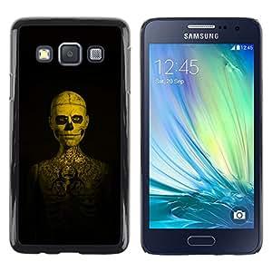 Shell-Star Arte & diseño plástico duro Fundas Cover Cubre Hard Case Cover para Samsung Galaxy A3 / SM-A300 ( Skull Tattoo Skeleton Human )