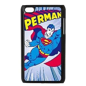 iPod Touch 4 Case Black Charging Superman Qlwym